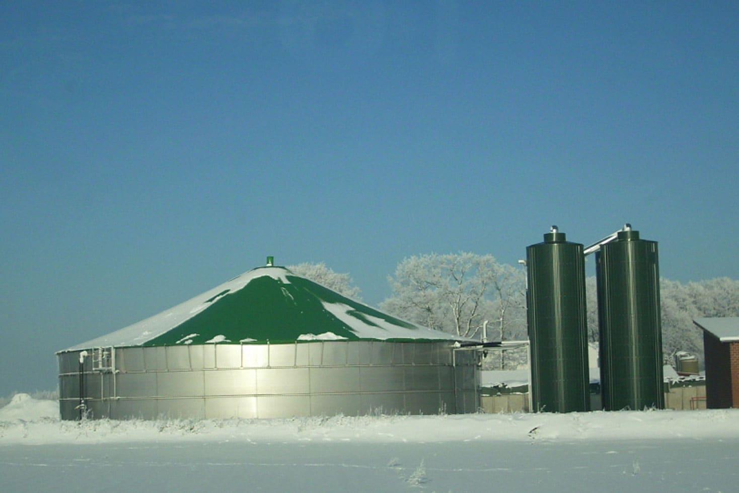 High Silo Biogas Roof